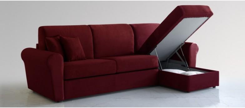 Divano letto angolare spazioso comodo e funzionale for Divano con penisola contenitore