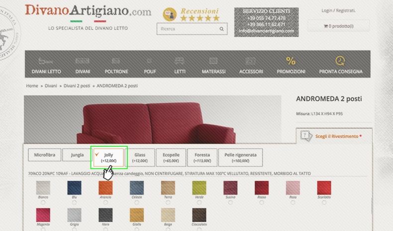 divano tessuto cotone