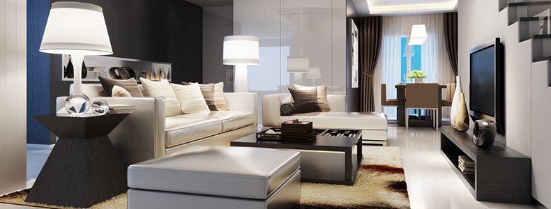 Luci da divano 5 consigli per l 39 illuminazione del salotto - Divano al centro della stanza ...