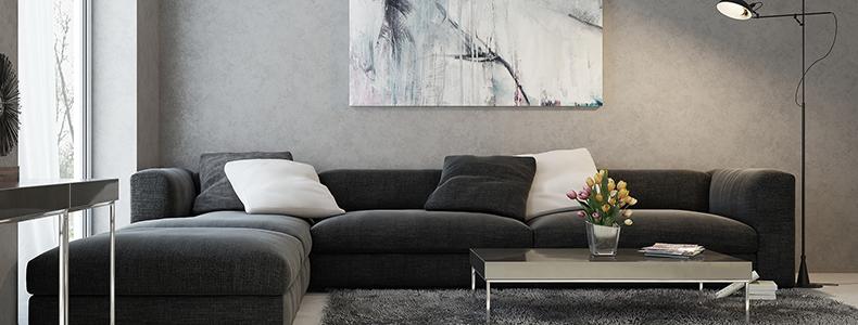 divano nero eleganza e raffinatezza in salotto