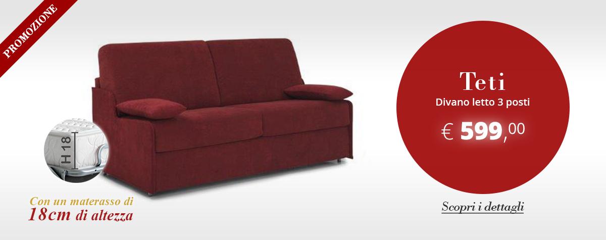 Promo: Teti/18, divano letto 3 posti