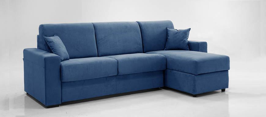 Ade divano letto con chaise longue contenitore 100 - Divano letto con chaise longue ...