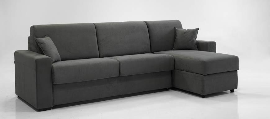 Ade divano letto con chaise longue contenitore 140 - Divano letto singolo con contenitore ...
