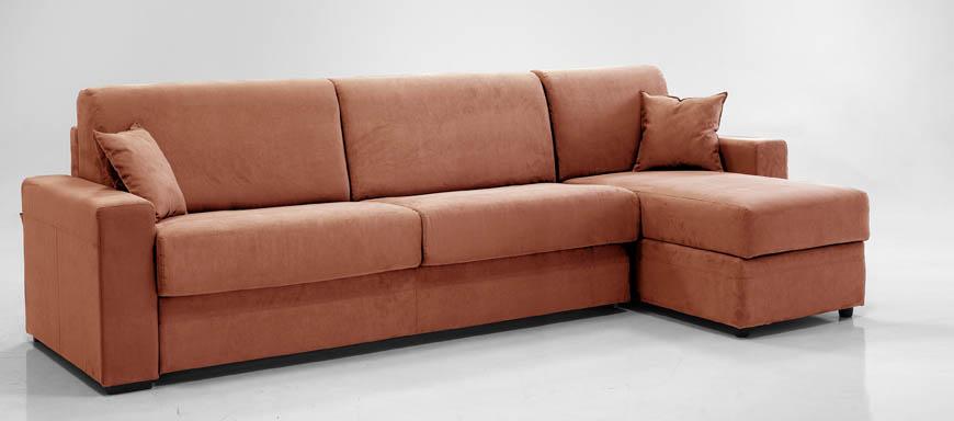 ADE divano letto con chaise longue contenitore 160