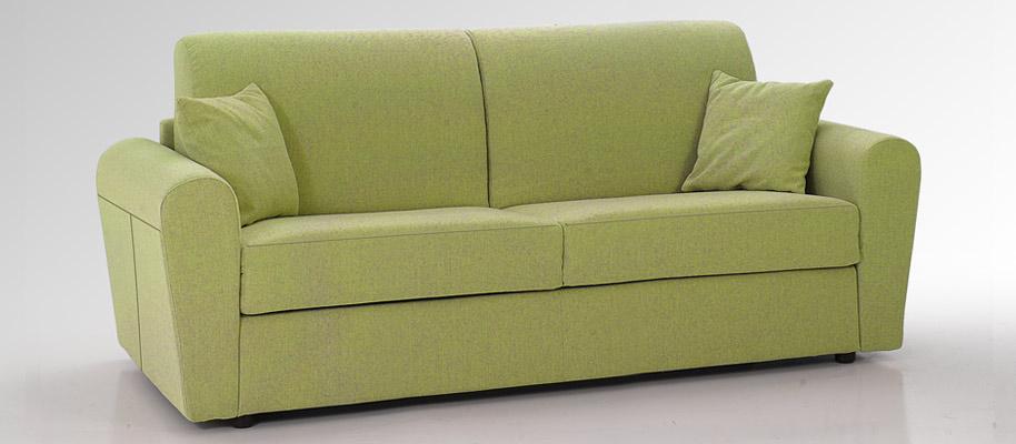 Giove divano letto 3 5 posti con materasso rete cuscini - Materasso per divano letto 3 posti ...