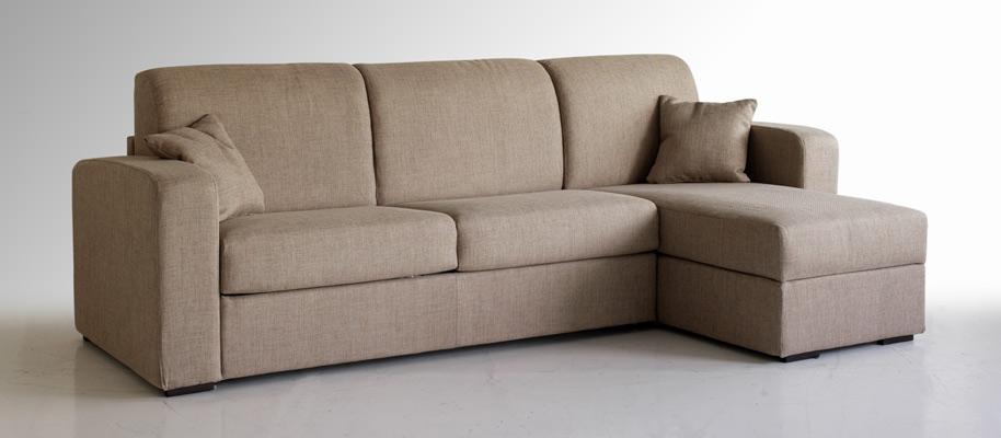 Plutone divano letto con penisola contenitore for Divani letto trento